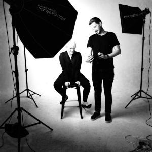 Tania Debono and photographer Sven Kovac during the SAWeekend Magazine shoot at tenth & Gibson, Adelaide.